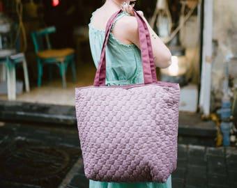 Tote Bag, Shoulder Bag, Vegan Hand Bag, Antique Rose Bag, Book Bag, Women Tote, Shopping Bag, Side Bag, Beach Tote, Market Tote