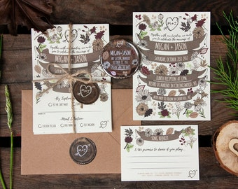 WOODLAND FOREST wedding invitation
