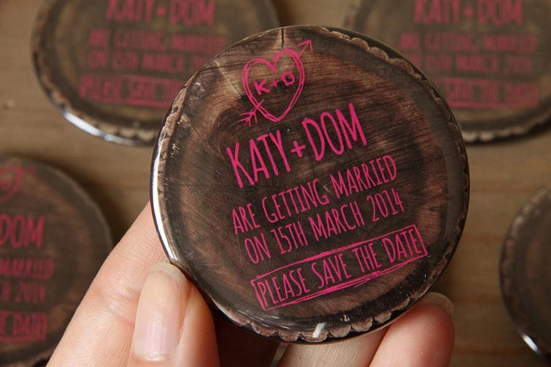 WOODLAND design Save the Date 58mm Magnets