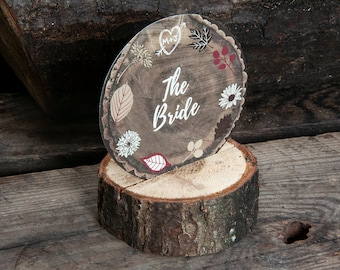 Personalised WOODLAND FOREST Wood Chip Place Cards