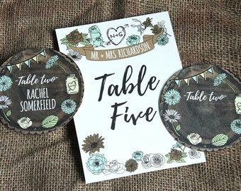 WHIMSICAL WOODLAND table numbers