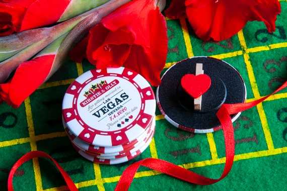 Wedding Poker Chip Save The Date wooden magnet Party Invitation fridge magnets