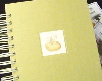 Garden journal blank book diary planner altered book gardening