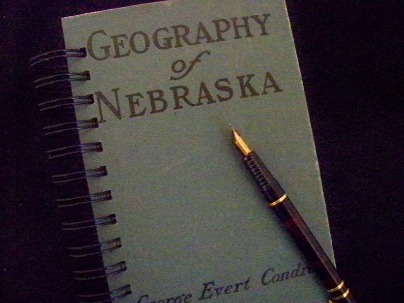 Geography of Nebraska book journal planner altered book image 0