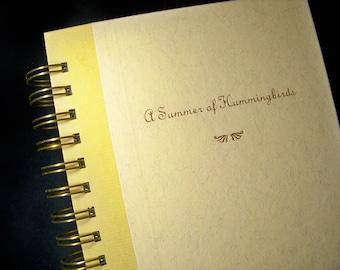 Emily Dickinson Summer of Hummingbirds blank book journal diary planner notebook poetry journal