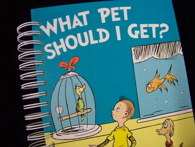 Seuss What Pet Should I Get blank journal diary notebook image 0