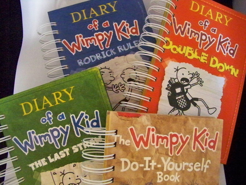 Diary of a Wimpy Kid book journal diary planner altered book image 0