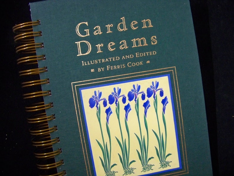 Garden Dreams blank book journal diary planner altered book image 0