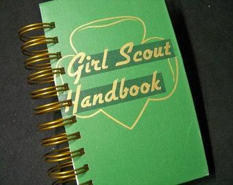 Girl Scout Handbook vintage journal address book blank journal diary planner