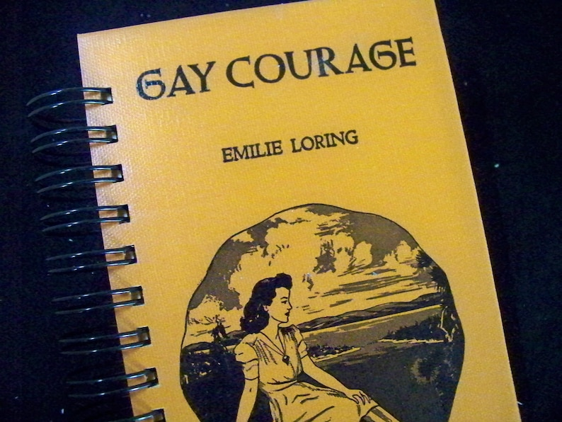 Gay Courage novel blank book journal notebook planner altered image 0