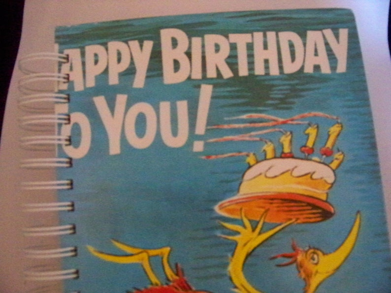 Happy Birthday Dr. Seuss blank book journal diary planner image 0