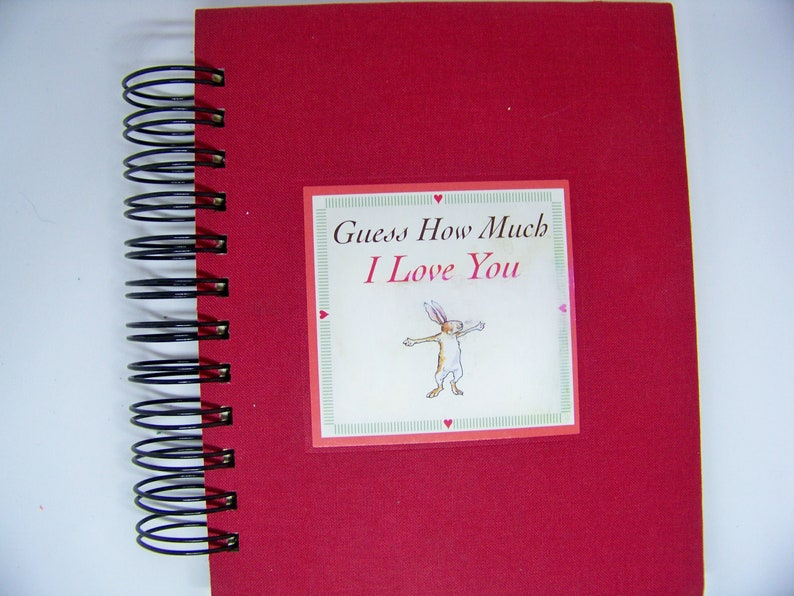 Guess How Much I Love You blank book journal altered book image 0