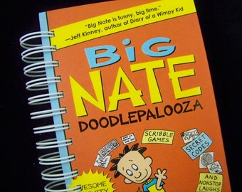 Big Nate book journal crafted into diary notebook altered book doodle tween favorite book