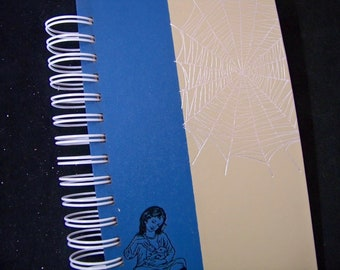 Charlotte's Web ADDRESS book and blank book journal planner notebook altered book