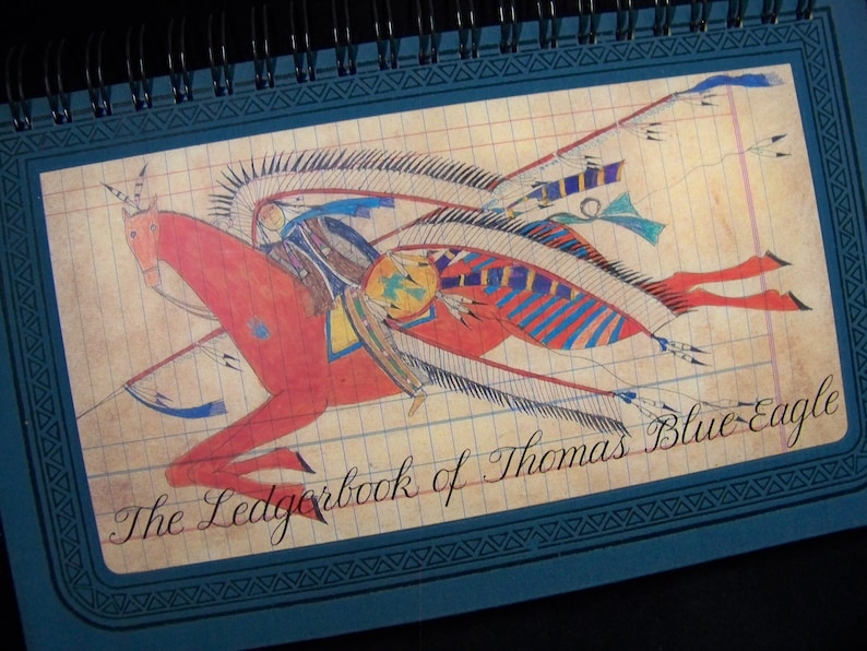 Ledgerbook of Thomas Blue Eagle blank book diary journal image 1