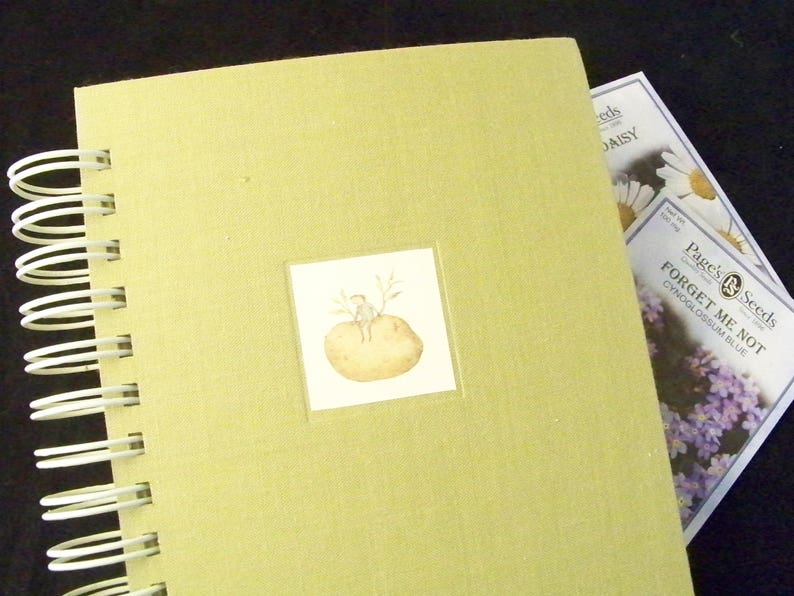 Garden journal blank book diary planner altered book gardening image 0