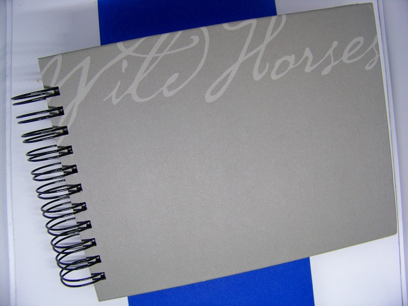 Horses book journal blank diary altered book planner wild image 0