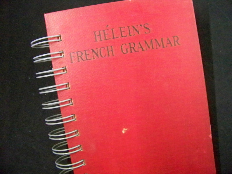 French grammar book journal blank book diary altered book image 0