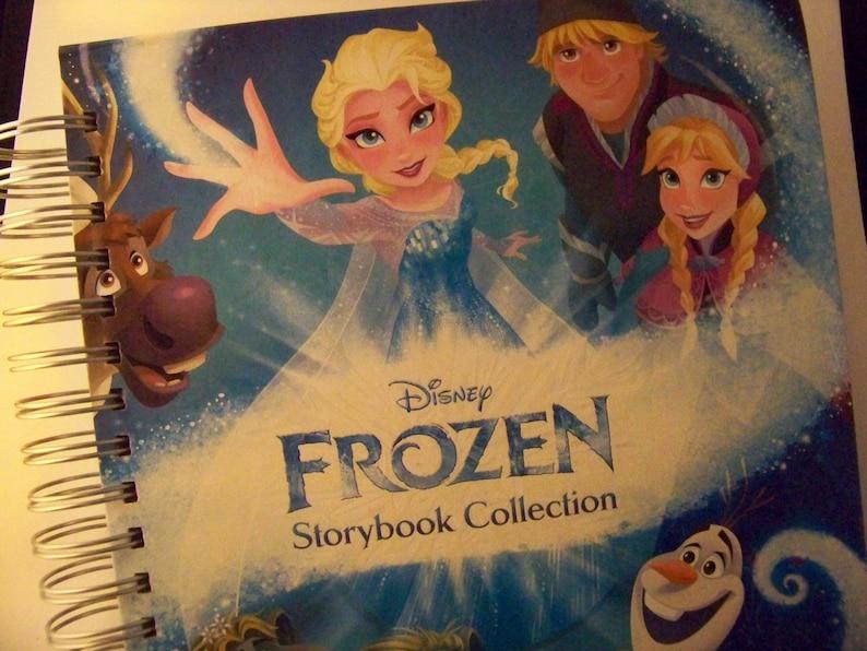 Frozen Elsa Anna book journal storybook blank book journal image 0