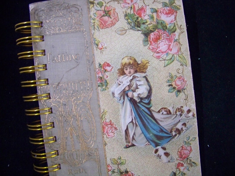 Tattine blank book journal diary planner notebook altered book image 0