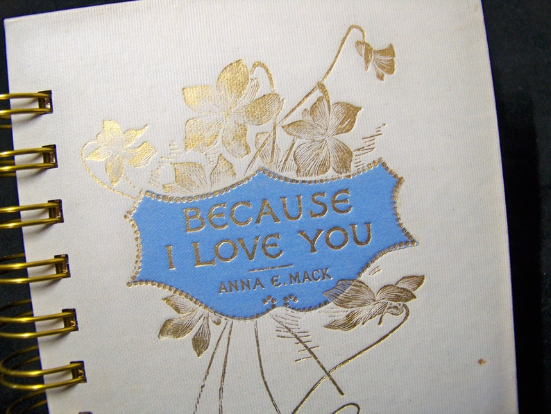 LOVE book journal diary planner altered book notebook Because image 0