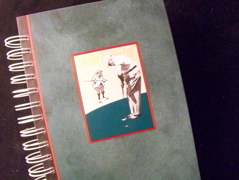 FATHER'S DAY Golf journal diary planner altered book Let image 0