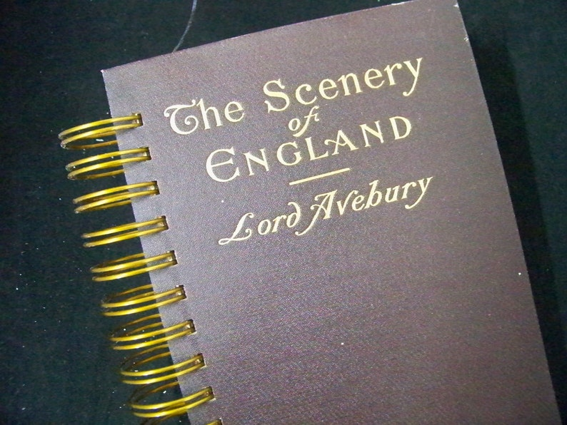 England travel diary blank book journal planner altered book image 0