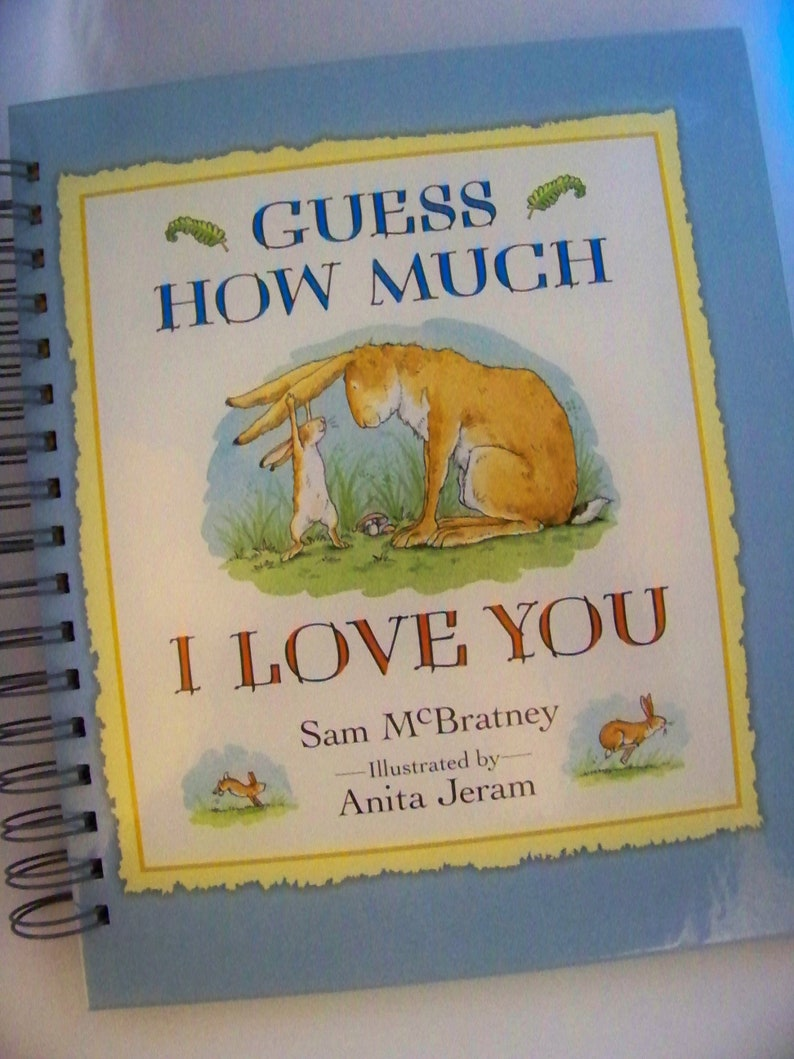 WEDDING GUEST BOOK Guess How Much I Love You blank book image 0