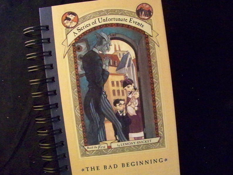 Lemony Snicket Unfortunate Events blank book journal diary image 0