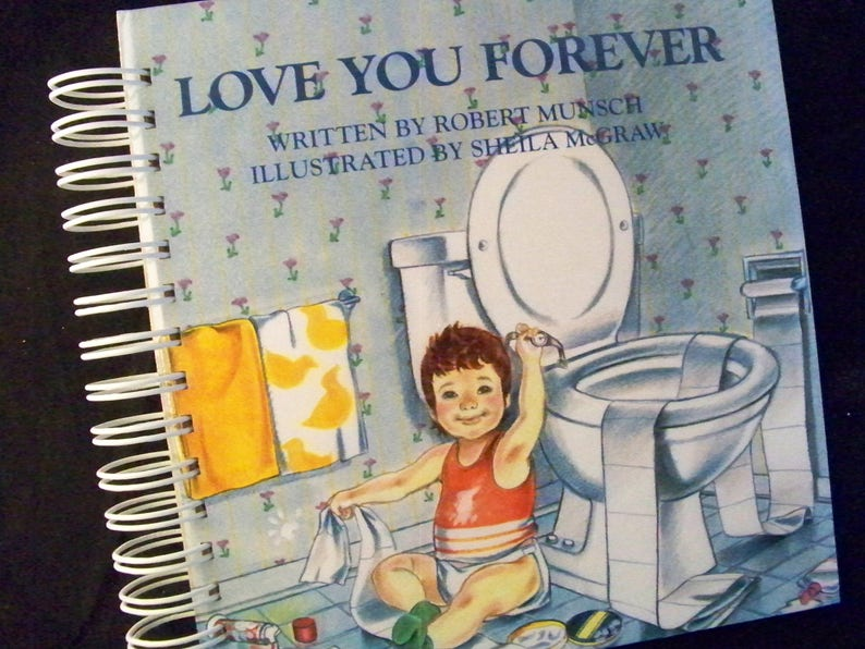 Love You Forever blank book journal diary planner altered book image 0
