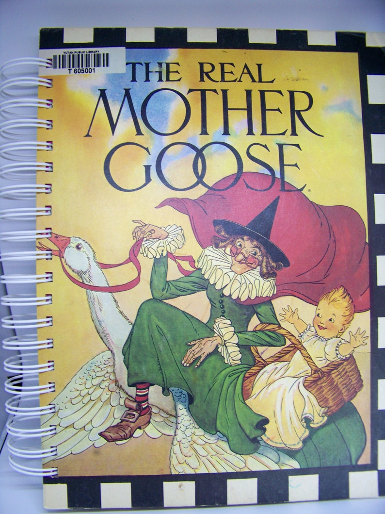 Mother Goose nursery rhymes vintage book journal diary planner image 0