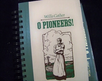 Willa Cather O Pioneers book journal altered book planner diary prairie