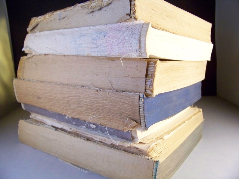Vintage book pages unbound old book stacks 5 lbs/old paper in image 0