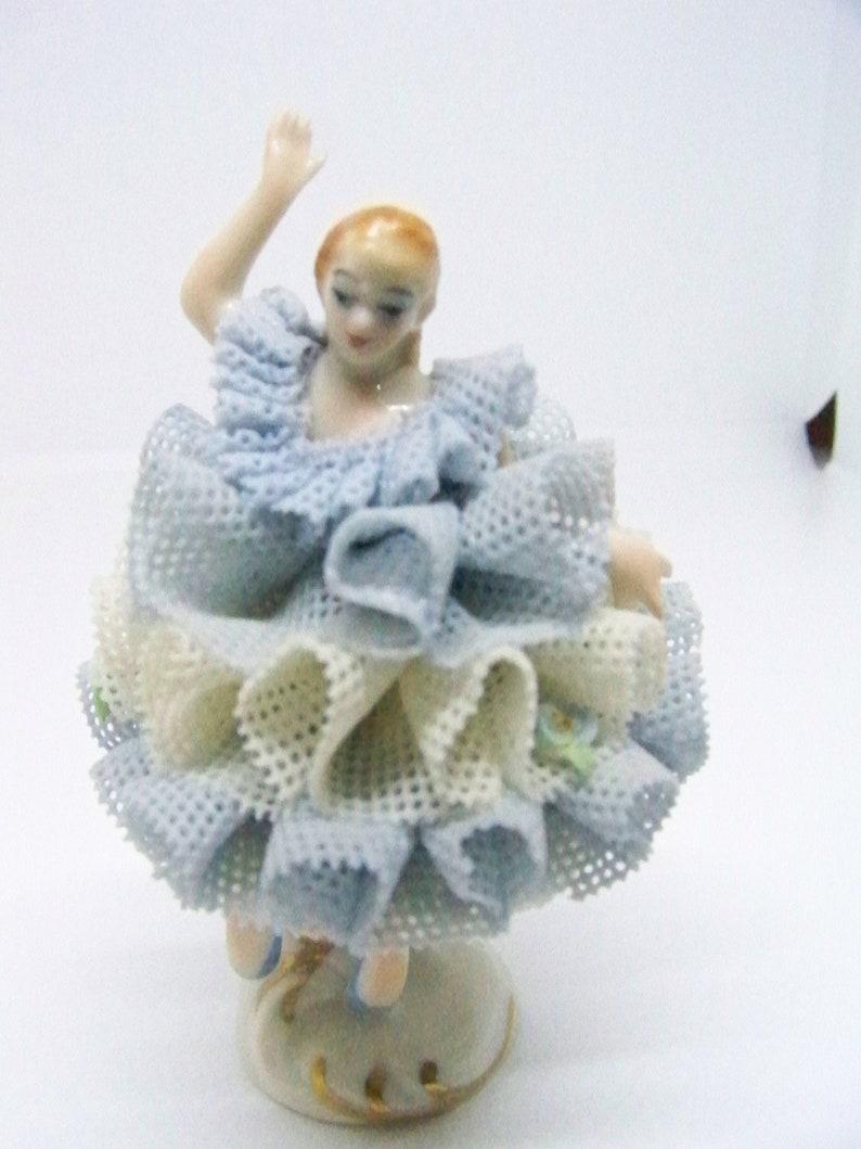 Irish Dresden lace porcelain ballerina figurine Ireland Regina image 0