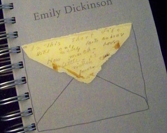Emily Dickinson Envelope Poems blank book journal diary planner altered book poetry