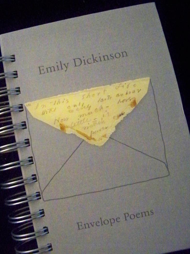 Emily Dickinson Envelope Poems blank book journal diary image 0