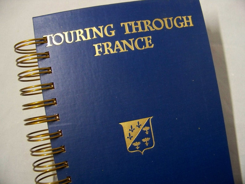 Travel journal France blank book journal diary planner altered image 0