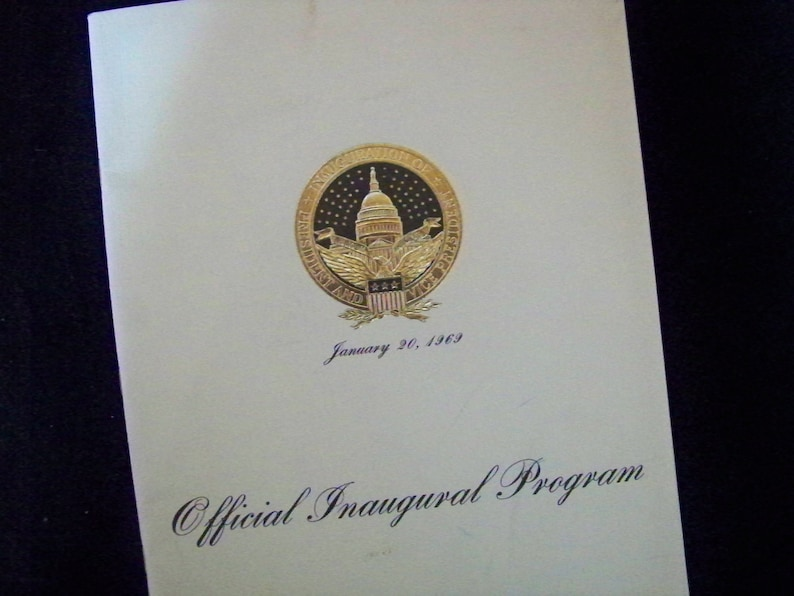 Nixon Presidential Official Inaugural Program January 20 1969 image 0
