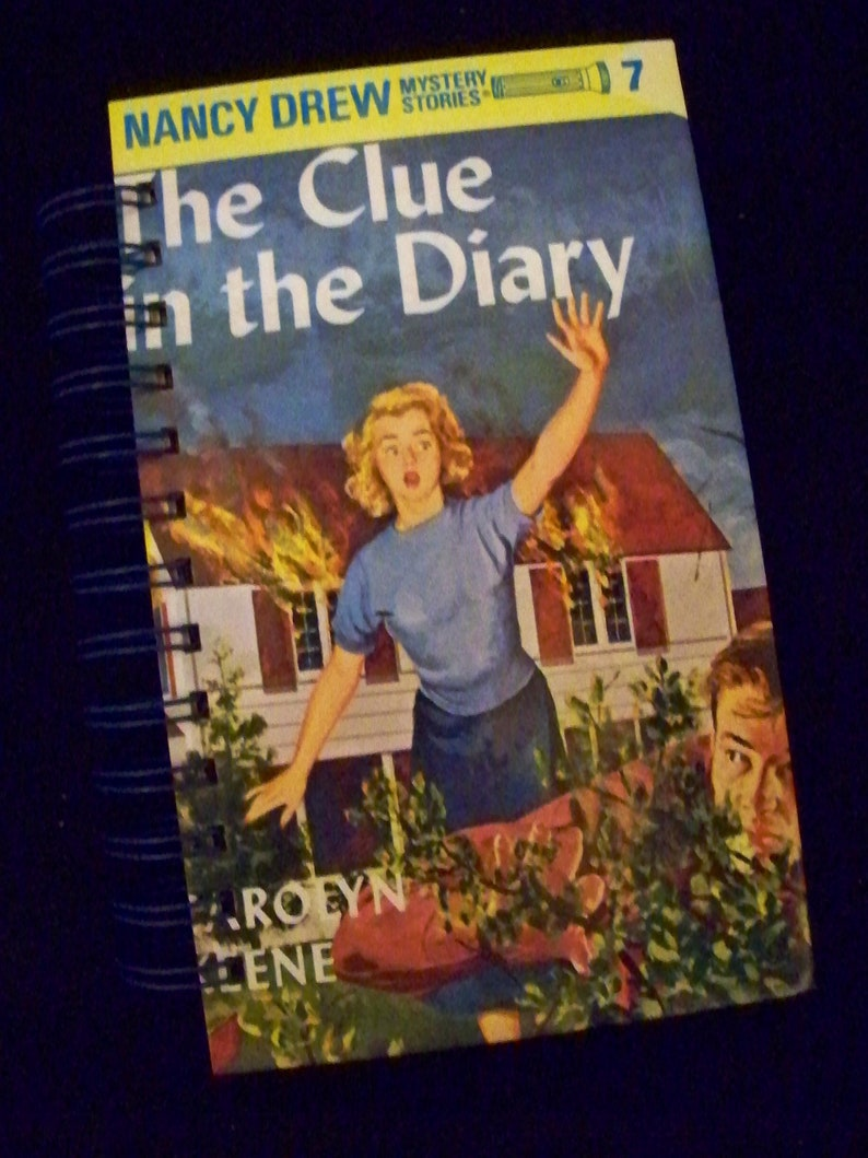 Nancy Drew Clue in Diary blank journal altered book planner image 0