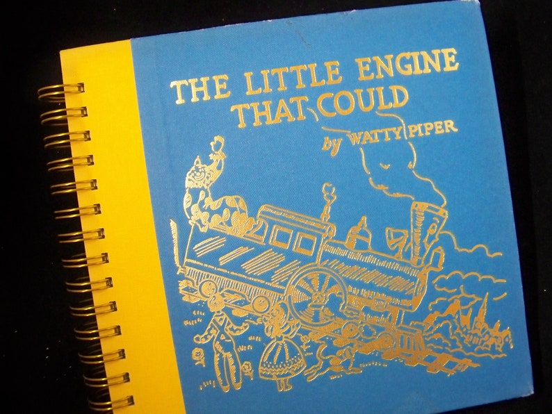Little Engine that Could blank book journal diary planner image 0