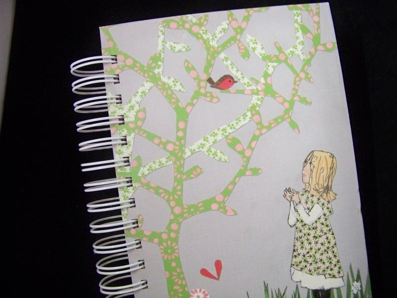 Secret Garden book journal planner altered book notebook image 0