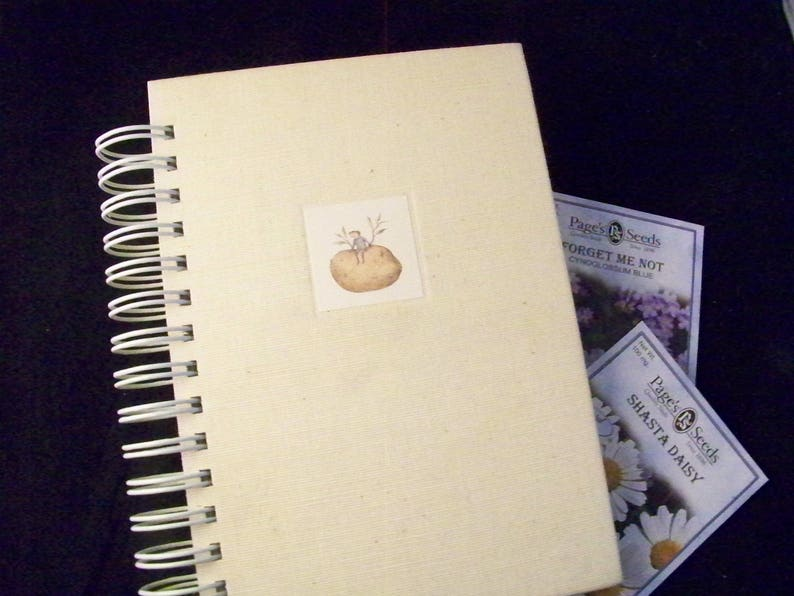 Gardening journal planner blank book diary altered book image 0