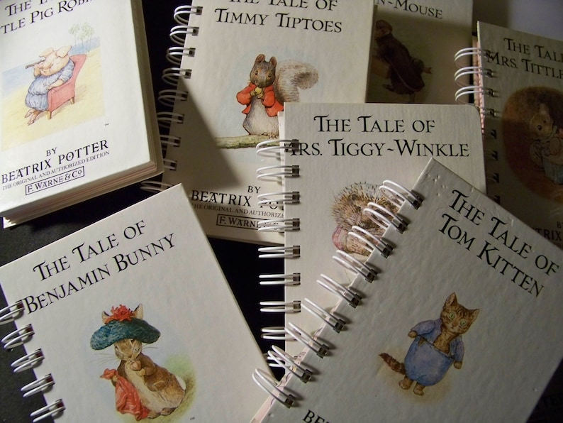 Beatrix Potter Peter Rabbit books as book journals altered image 0