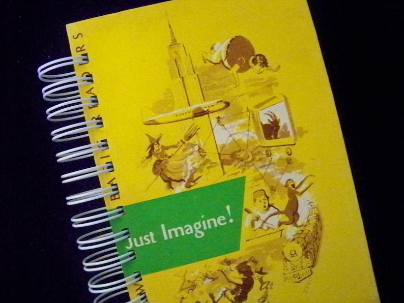 Schoolbook vintage blank book journal diary notebook planner image 0