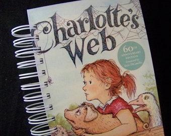 ADDRESS BOOK Charlotte's Web altered book journal diary planner pig Wilbur farm