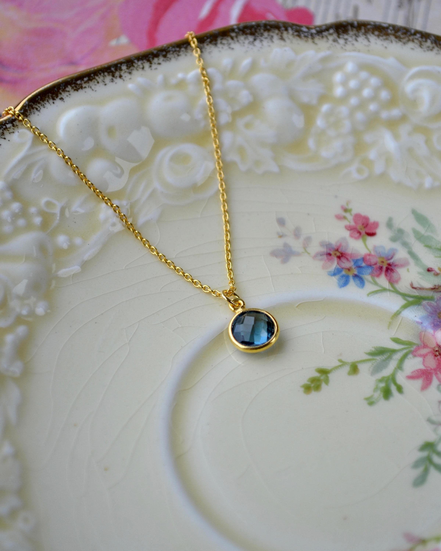 london blue topaz necklace december birthstone jewelry. Black Bedroom Furniture Sets. Home Design Ideas