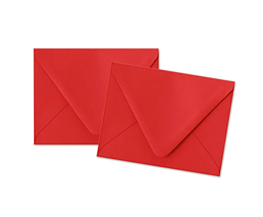 red envelopes a2 pointed flap envelopes set of 10 etsy