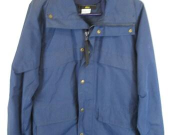 Vintage 70er Jahre REI Jacke Gore Tex blau Regen Mantel