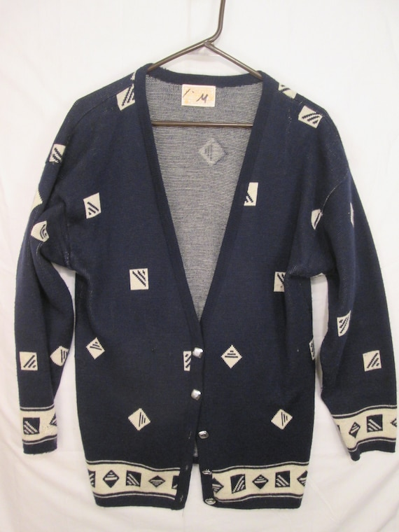 f91dc7d927709 vintage Pendleton woolen mills navy blue with white diamond