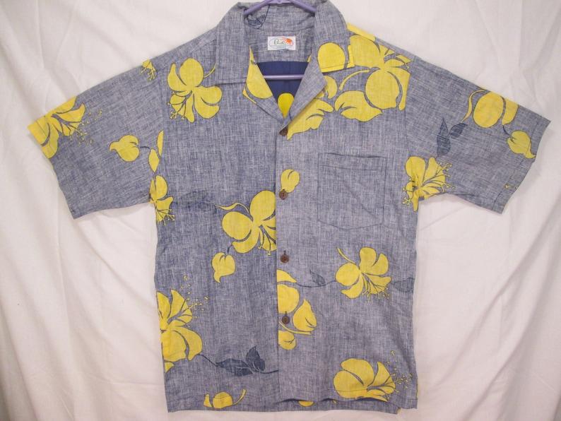 257c47be2 Vintage Surf Line Hawaii PUA reverse print aloha shirt | Etsy